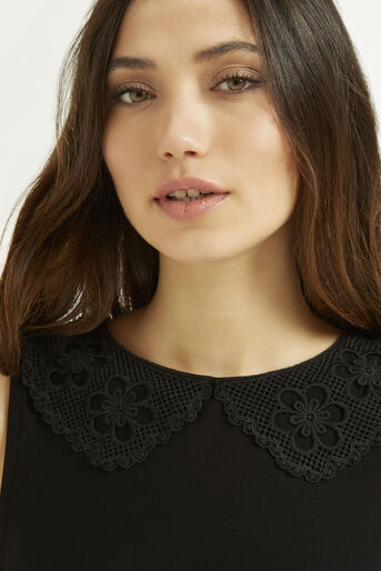 Oasis, Crochet Collar Shell Black 4