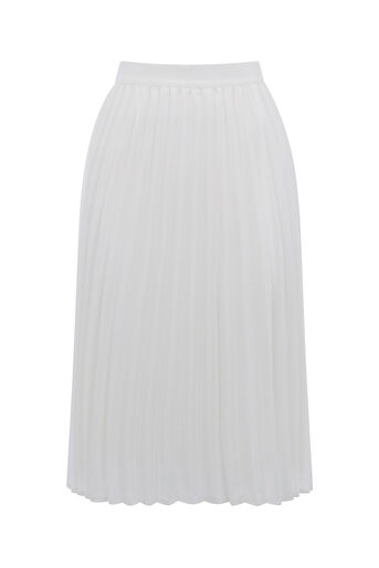 Oasis, LUCIA PLEATED SKIRT Off White 0