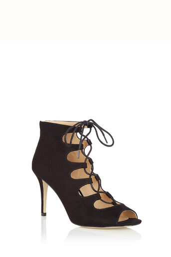 Oasis, Gilly Lace Up Heel Black 0