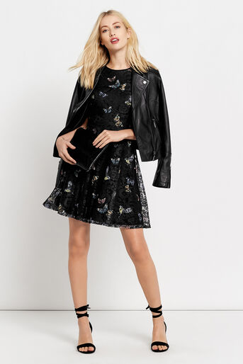 Oasis, FOREST BUTTERFLY LACE DRESS Black 2