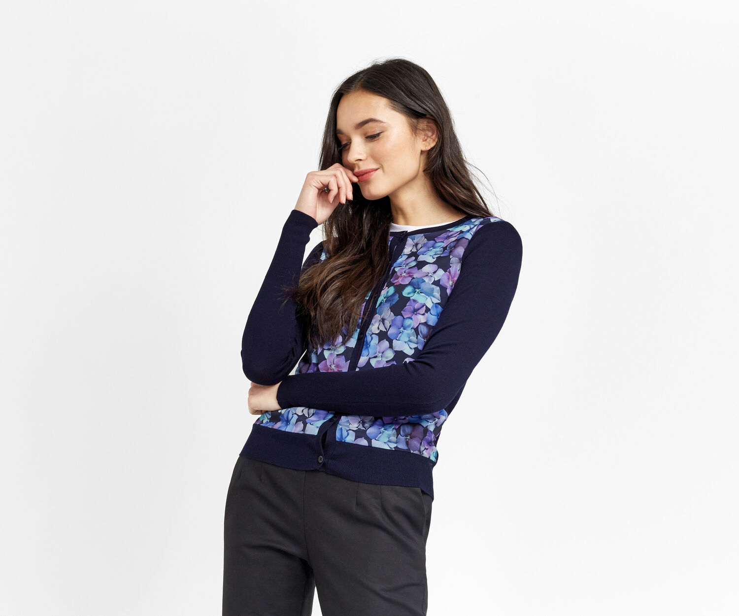 Oasis, WILD BLOOM FRONT CARDI Multi 1