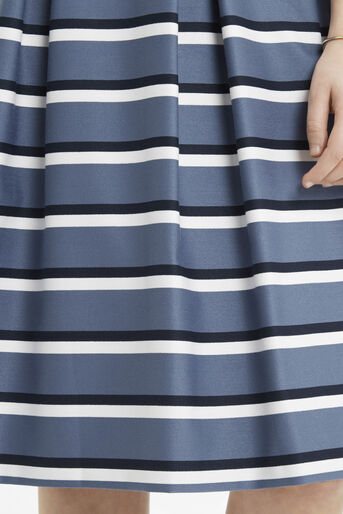 Oasis, Stripe Midi Skirt Multi Blue 4