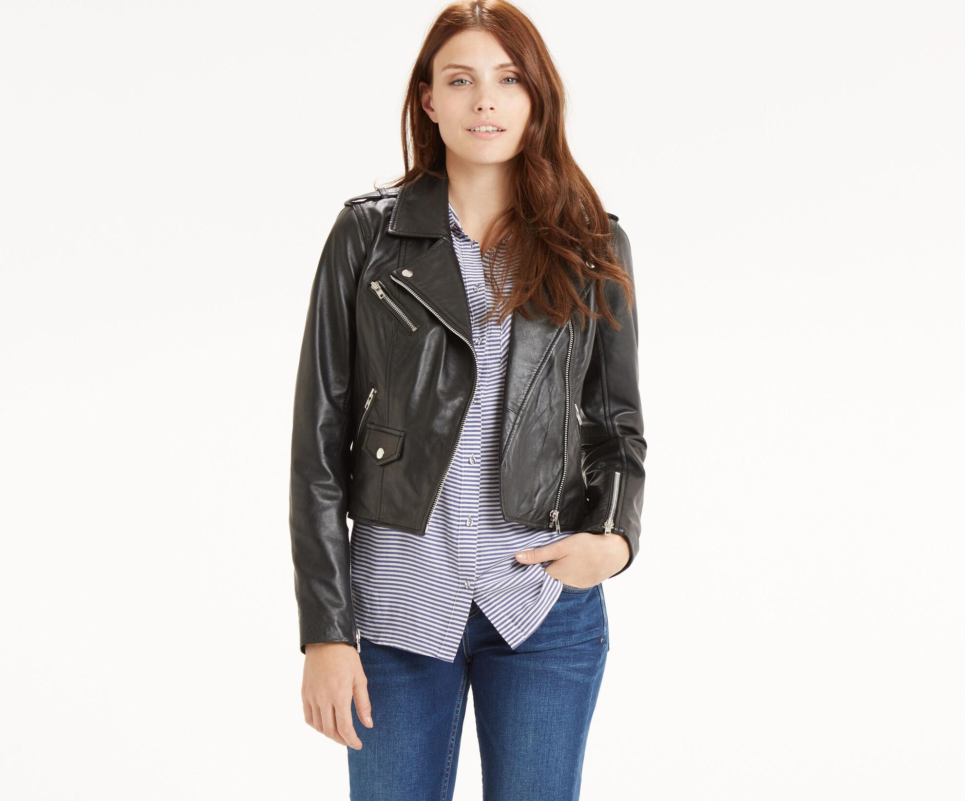 Oasis, The Leather Biker Black 1