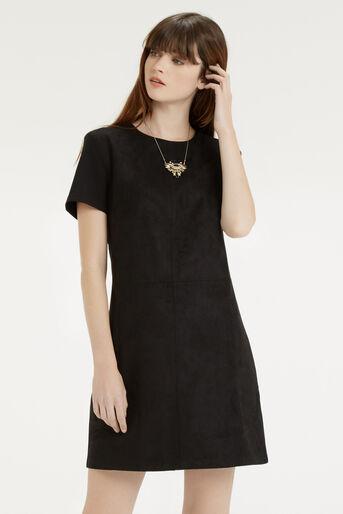 Oasis, Suedette Dress Black 1