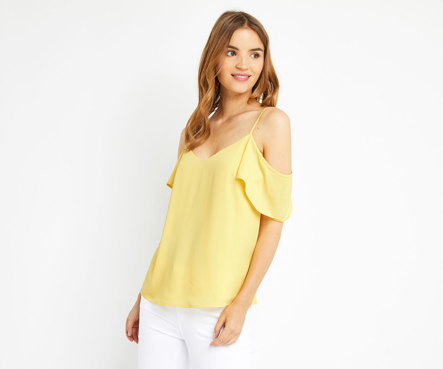 Oasis, COLD SHOULDER CAMI Mid Yellow 1