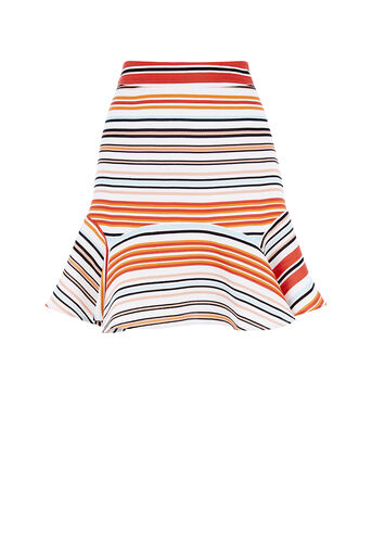 Oasis, STRIPE FLIPPY SKIRT Multi 0