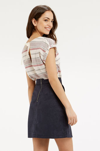 Oasis, CASUAL STRIPE TEE Multi Natural 3