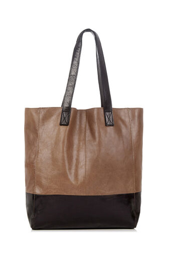 Oasis, LEATHER SHOPPER BAG Multi Black 0