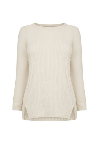 Oasis, The Cable Knit Off White 0