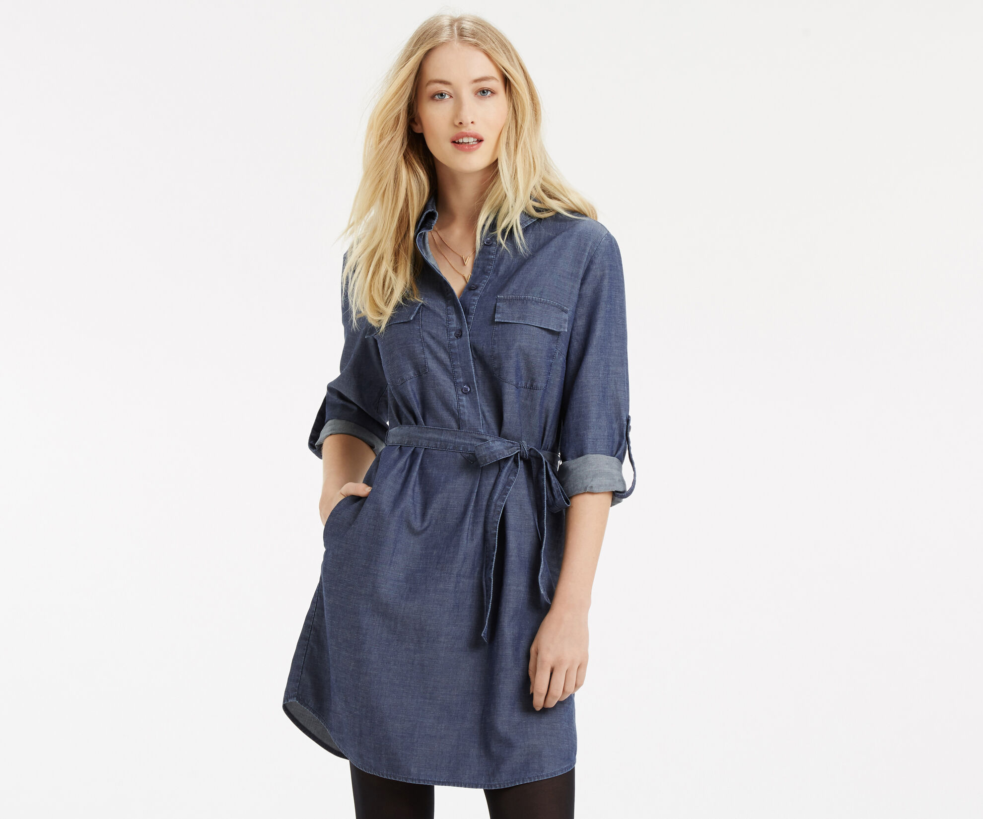 Oasis, Gemma Shirt Dress Denim 1