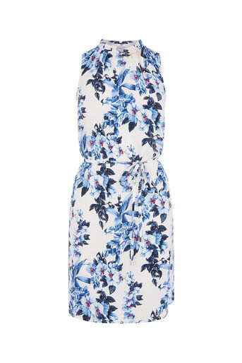 Oasis, TROPICAL HIGH NECK DRESS Multi Natural 0