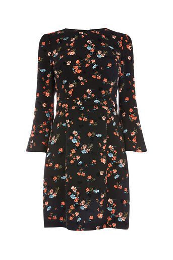 Oasis, RUBY FLUTE SLEEVE DRESS Multi 0