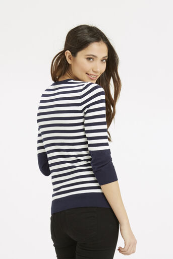 Oasis, Nautical Stripe Knit Multi 3