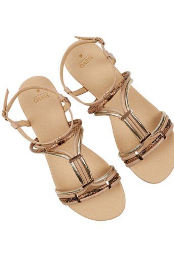Oasis, Strappy Textured Sandal Multi 2