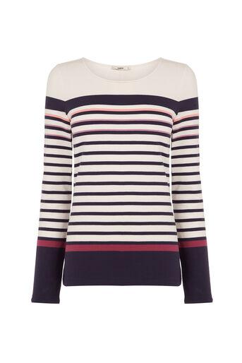 Oasis, Multi Coloured Stripe Crew Multi 0