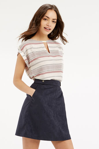 Oasis, CASUAL STRIPE TEE Multi Natural 1