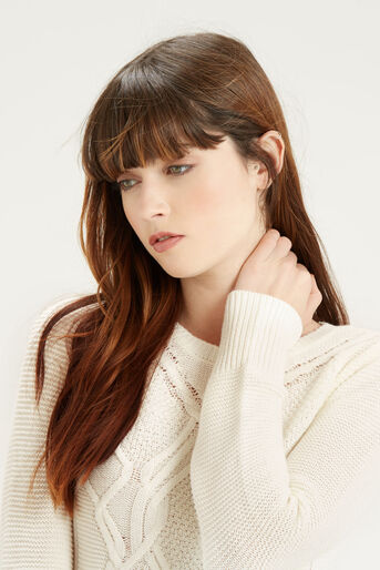 Oasis, Cute Cable Knit Off White 4