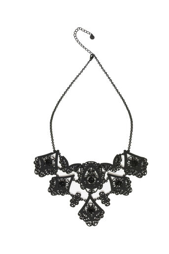 Oasis, BUTTERFLY COLLAR Black 0