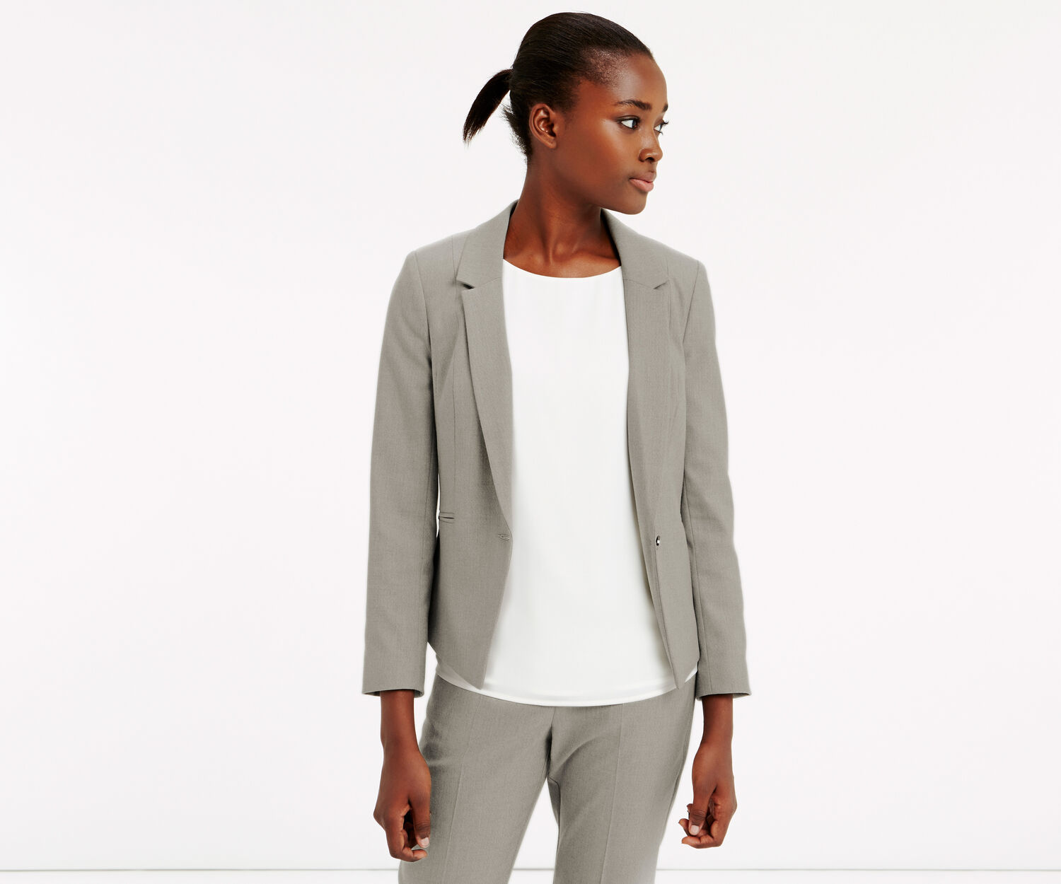 Oasis, CLARA WORKWEAR JACKET Mid Grey 1