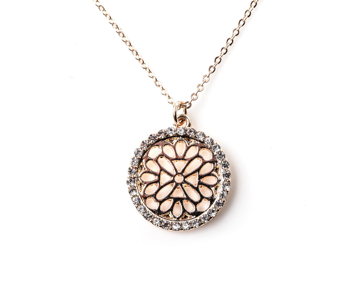 Oasis, FILIGREE NECKLACE Rose Gold 1