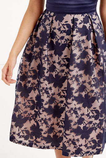 Oasis, ORGANZA MIDI DRESS Navy 4