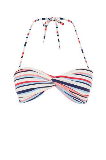 Oasis, Multi stripe twist bikini top Multi 0