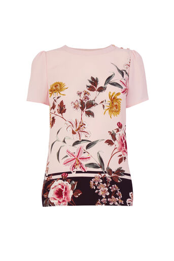 Oasis, Opium Grosgrain T-Shirt Multi Pink 0
