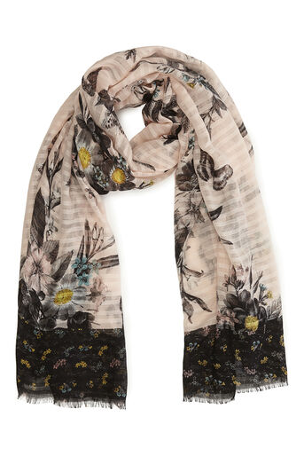 Oasis, SHIPWRECK PRINT SCARF Multi Pink 0