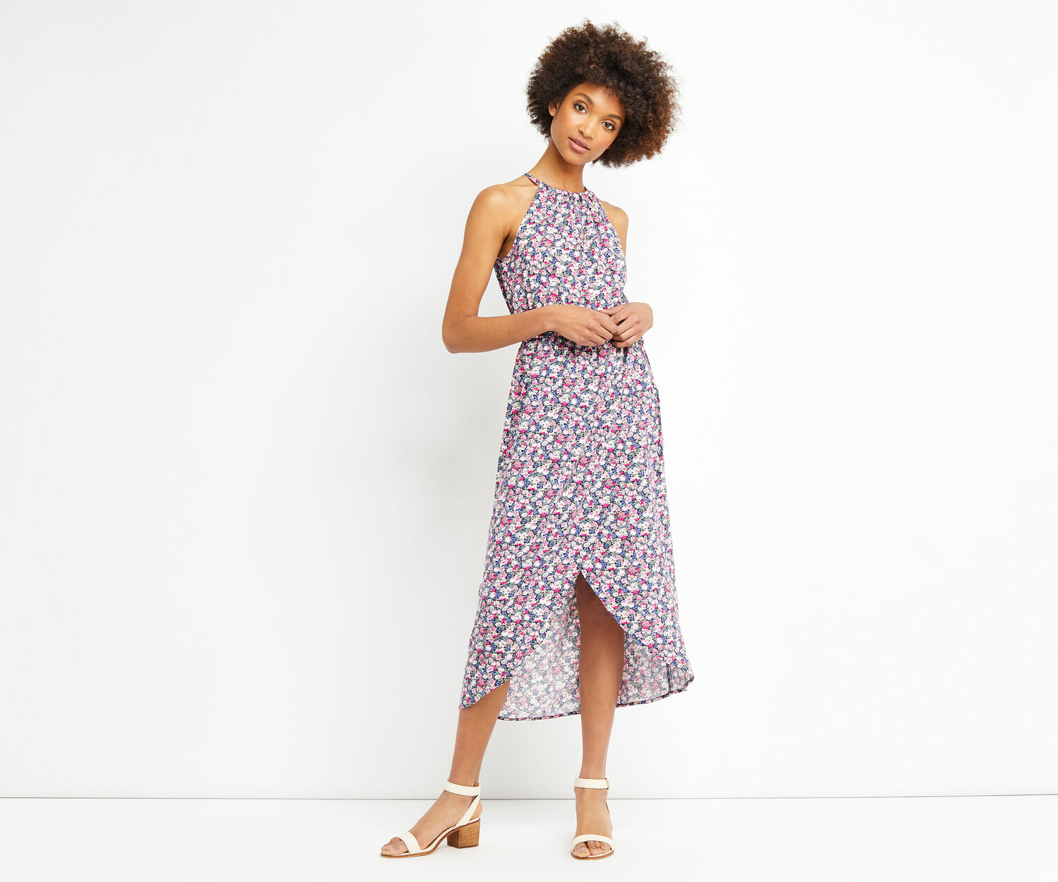 Oasis, DITSY MIDI DRESS Multi 1