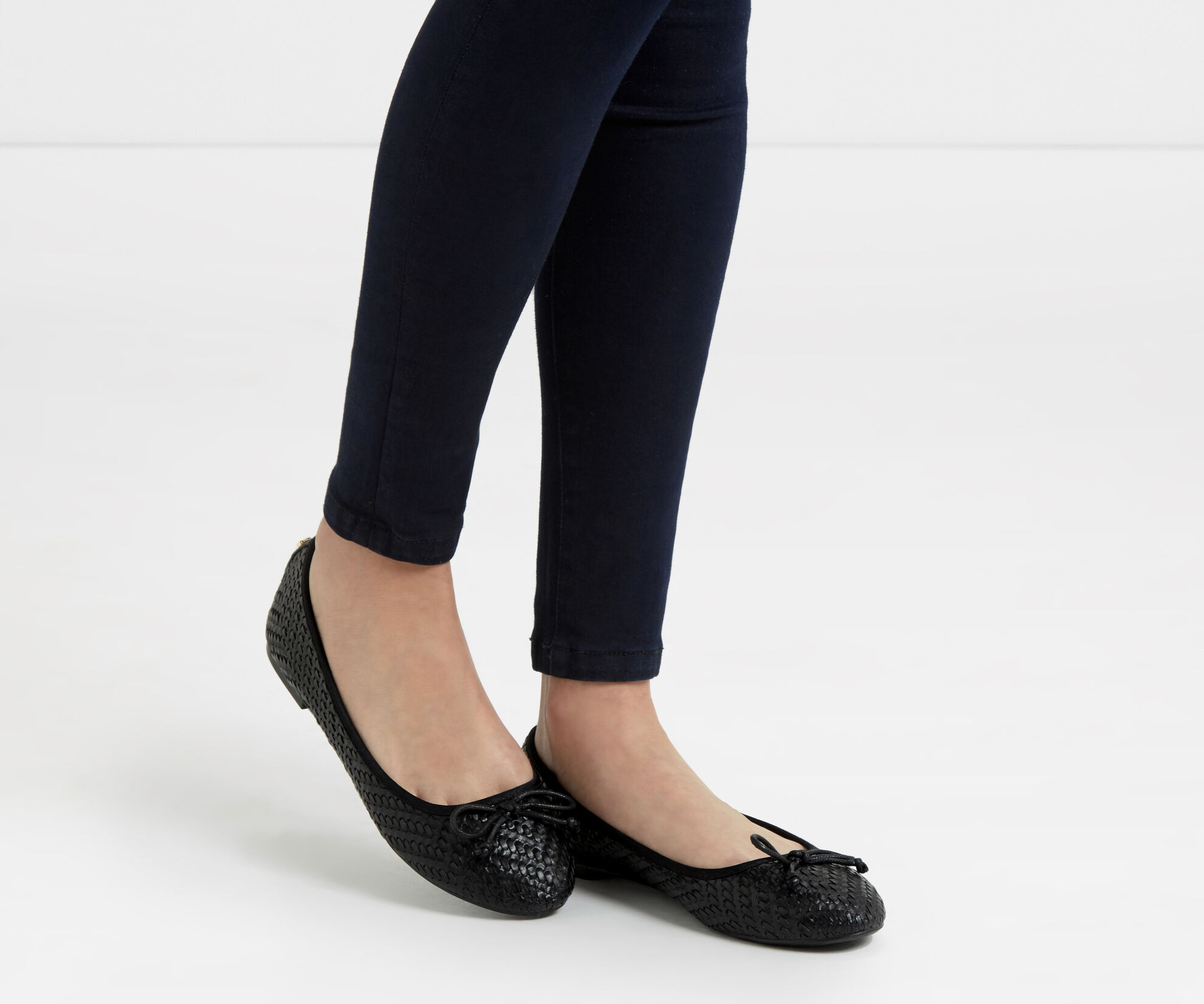 Oasis, Textured Ballerina Black 1