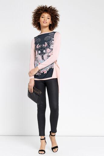 Oasis, Lotus Side Tie Top Pale Pink 2