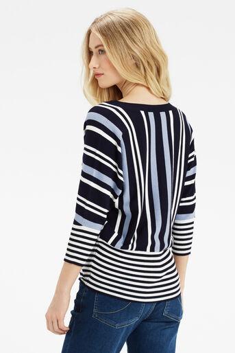 Oasis, Briony Stripe Knit Multi Blue 3