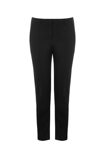 Oasis, COMPACT COTTON TROUSER Black 0