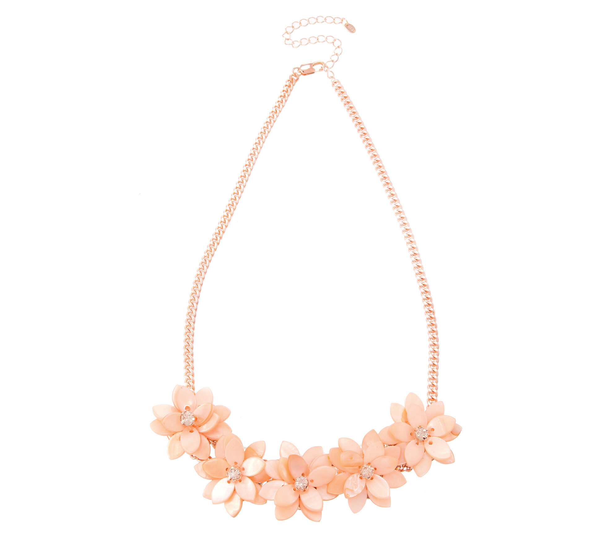 Oasis, SHELL FLOWER NECKLACE Coral 0