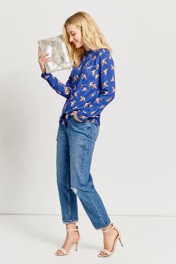Oasis, COUNTRY BIRD SHIRT Multi Blue 2