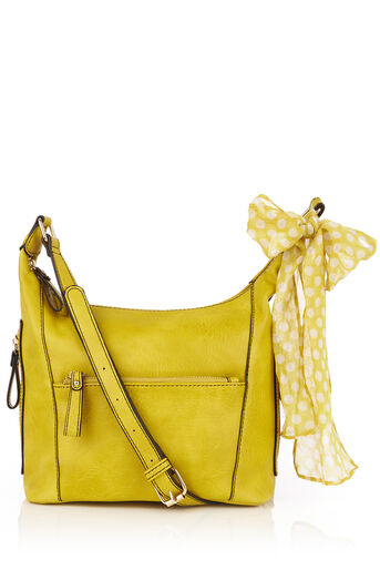 Oasis, ISSY CROSS BODY SCARF BAG Mid Yellow 0
