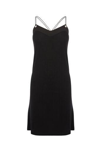 Oasis, EYELET CAMI DRESS Black 0