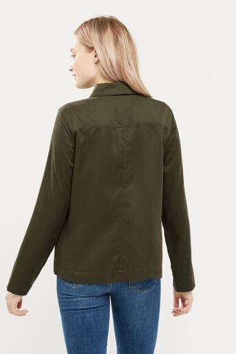 Oasis, Blossom emb utility jacket Khaki 3