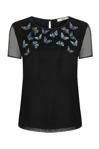 Oasis, FOREST BUTTERFLY TOP Black 0