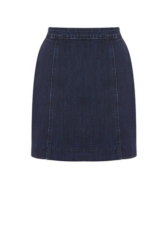 Oasis, EASY DENIM SKIRT Dark Wash 0