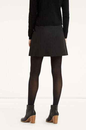 Oasis, Zip A-Line Marley Skirt Black 3