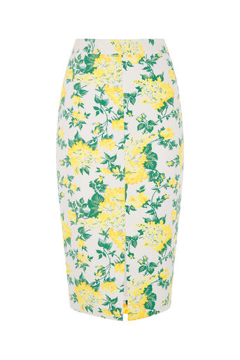 Oasis, BLOSSOM PENCIL SKIRT Multi Natural 0