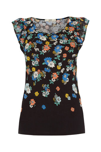 Oasis, Scattered Edie Frill T-Shirt Multi 0