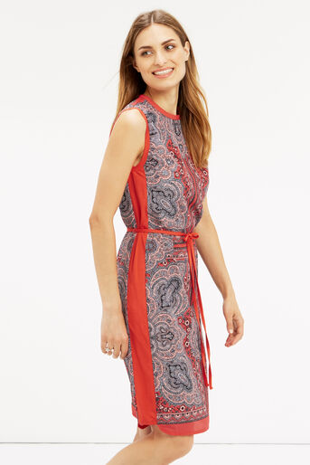 Oasis, PAISLEY PRINT DRESS Coral 1