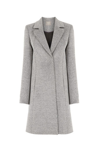 Oasis, LYDIA CAR COAT Mid Grey 0