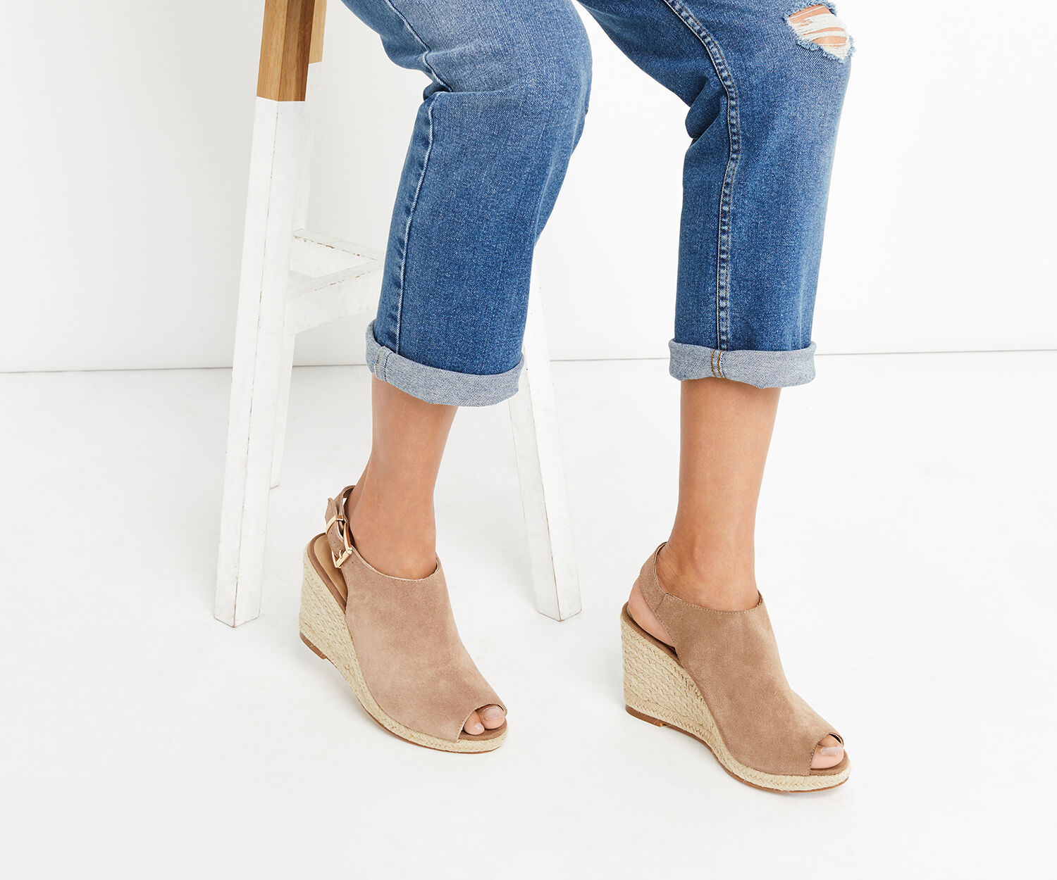 Oasis, LUCY SLINGBACK WEDGE Stone 1