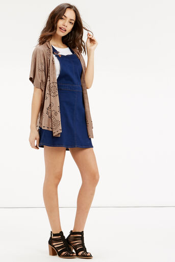 Oasis, FAUX SUEDE CAPE Stone 2