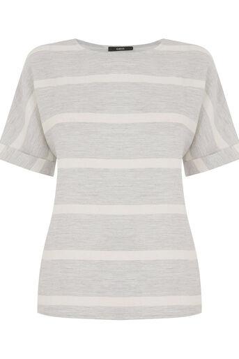 Oasis, Textured Stripe T-Shirt Multi 0