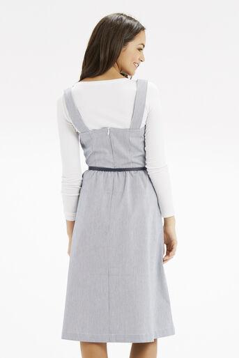 Oasis, Jenna Stripe Midi Dress Multi Blue 3