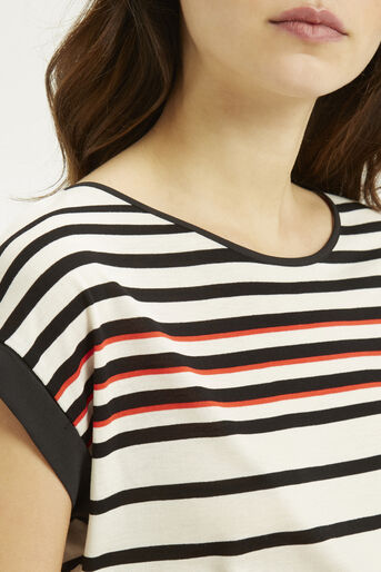 Oasis, Stripe Bretton T-Shirt Mid Orange 4